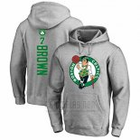 Sudaderas con Capucha Jaylen Brown Boston Celtics Gris2