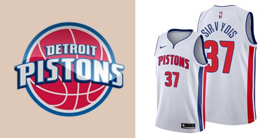 Camisetas nba Detroit Pistons