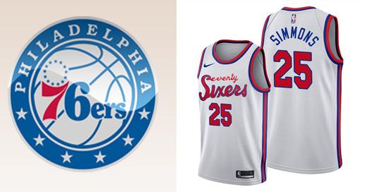 Camisetas nba Philadelphia 76ers