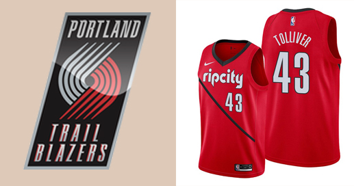 Camisetas nba Portland Trail Blazers